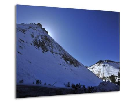 Snow Covered Checkerboard Mesa in Zion National Park-Raul Touzon-Metal Print