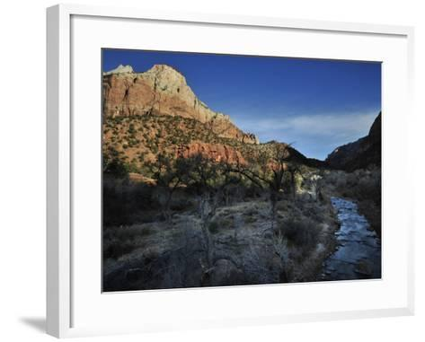 Canyon Walls and the Virgin River-Raul Touzon-Framed Art Print