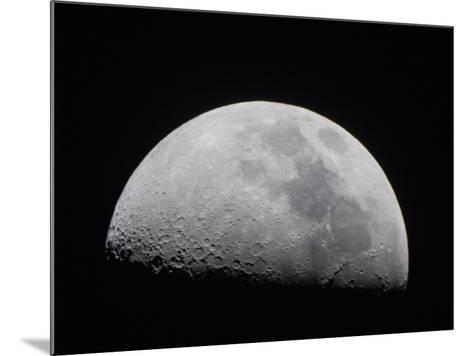 A Close Up of Earth's Moon and it's Numerous Impact Craters and Pits-Mike Theiss-Mounted Photographic Print