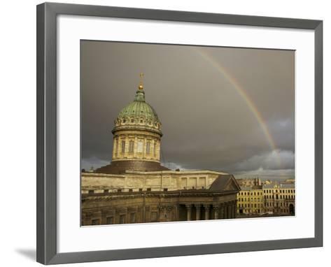 Cathedral of Our Lady of Kazan, on the Nevsky Prospekt-Keenpress-Framed Art Print