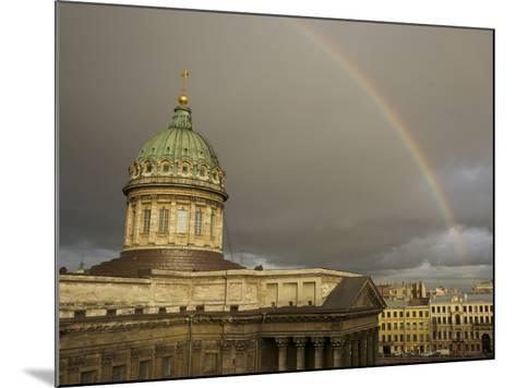 Cathedral of Our Lady of Kazan, on the Nevsky Prospekt-Keenpress-Mounted Photographic Print
