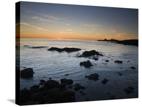Sunset over the Pacific Ocean and Coast of Piedras Blancas, California-James Forte-Stretched Canvas Print