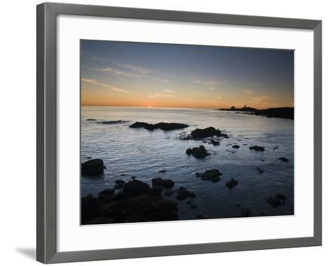 Sunset over the Pacific Ocean and Coast of Piedras Blancas, California-James Forte-Framed Art Print