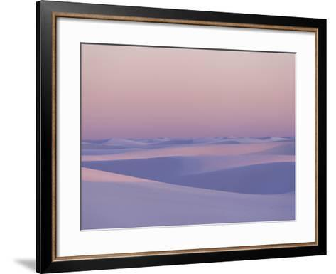 Pink and Purple Illuminated Sand Dunes During Sunset-Mike Theiss-Framed Art Print