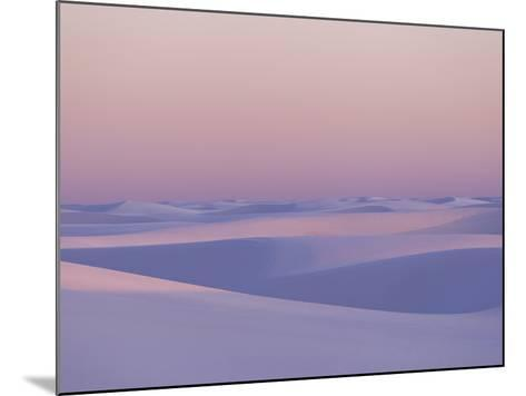 Pink and Purple Illuminated Sand Dunes During Sunset-Mike Theiss-Mounted Photographic Print