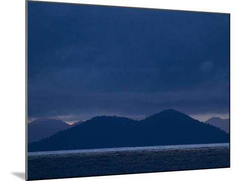 The West Coast of Panama in Monochromatic Blues-Michael Melford-Mounted Photographic Print