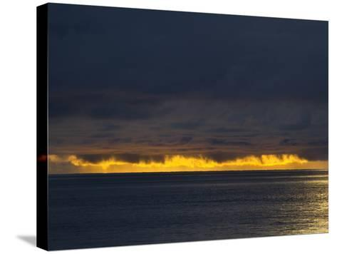 Sunlight Hits Clouds over the Pacific Ocean in Panama-Michael Melford-Stretched Canvas Print