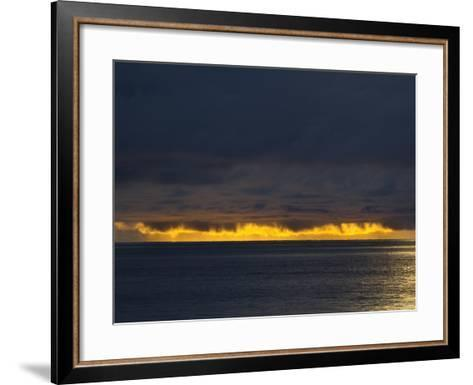 Sunlight Hits Clouds over the Pacific Ocean in Panama-Michael Melford-Framed Art Print