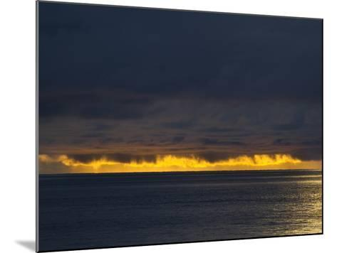 Sunlight Hits Clouds over the Pacific Ocean in Panama-Michael Melford-Mounted Photographic Print
