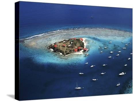 Aerial View of Marina Cay Island and Fringing Reef-Mauricio Handler-Stretched Canvas Print