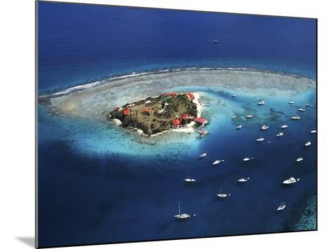 Aerial View of Marina Cay Island and Fringing Reef-Mauricio Handler-Mounted Photographic Print