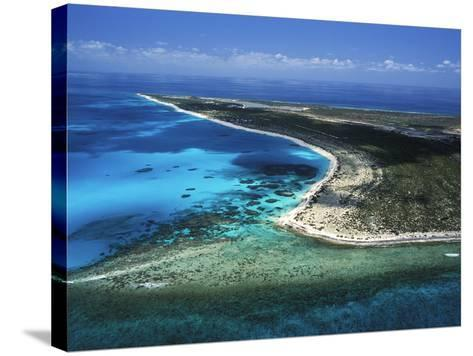 Aerial View of the Coral Barrier Reef Just Off Grand Turk Island-Mauricio Handler-Stretched Canvas Print