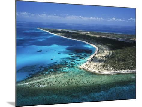 Aerial View of the Coral Barrier Reef Just Off Grand Turk Island-Mauricio Handler-Mounted Photographic Print