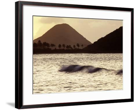 Surf Breaking at Sunset at Long Bay Beach-Mauricio Handler-Framed Art Print