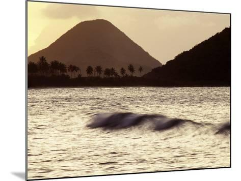 Surf Breaking at Sunset at Long Bay Beach-Mauricio Handler-Mounted Photographic Print