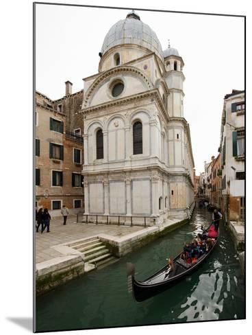 A Gondola Passing the Santa Maria Dei Miracoli Church-James P^ Blair-Mounted Photographic Print