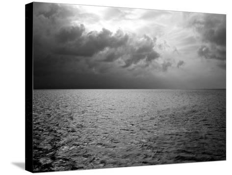 Heavy Clouds over Dark Water-Heather Perry-Stretched Canvas Print
