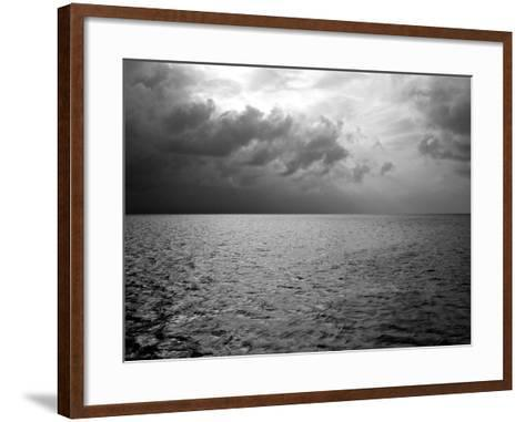 Heavy Clouds over Dark Water-Heather Perry-Framed Art Print