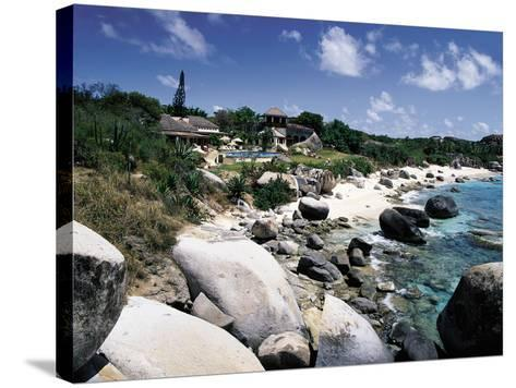 A Private Villa on the Edge of the Sea on Virgin Gorda-Mauricio Handler-Stretched Canvas Print