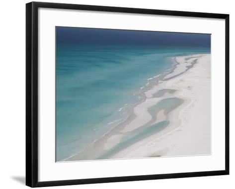 White Sand Beaches Stretch for Miles at Detwah Lagoon-Michael Melford-Framed Art Print