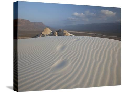 White Sand Dunes Stretch for Miles at Detwah Lagoon-Michael Melford-Stretched Canvas Print