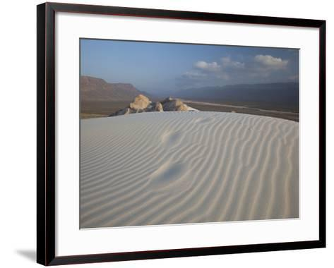 White Sand Dunes Stretch for Miles at Detwah Lagoon-Michael Melford-Framed Art Print
