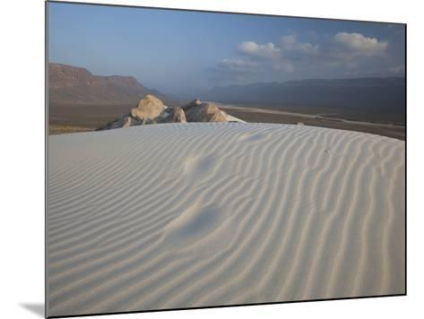 White Sand Dunes Stretch for Miles at Detwah Lagoon-Michael Melford-Mounted Photographic Print