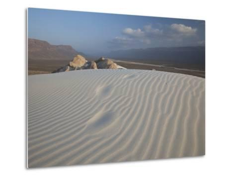 White Sand Dunes Stretch for Miles at Detwah Lagoon-Michael Melford-Metal Print