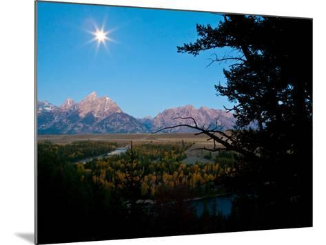The Full Moon Illuminates the Snake River in Grand Teton National Park-Drew Rush-Mounted Photographic Print