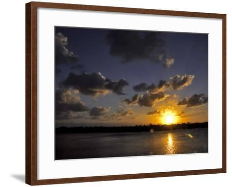 The Sun Setting over the Intracoastal Waterway-Raymond Gehman-Framed Art Print