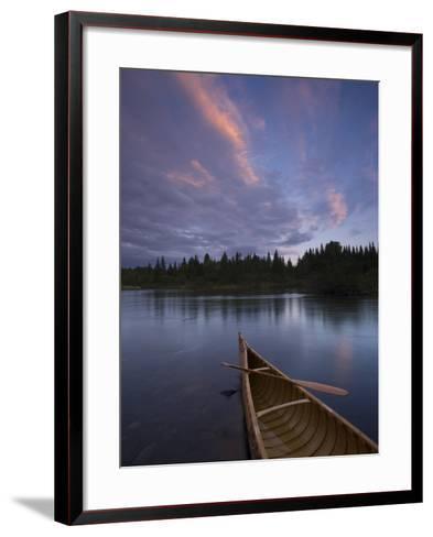 A Canoe on Maine's Allagash River-Michael Melford-Framed Art Print