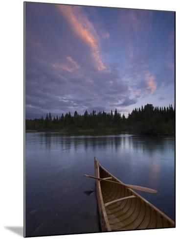 A Canoe on Maine's Allagash River-Michael Melford-Mounted Photographic Print