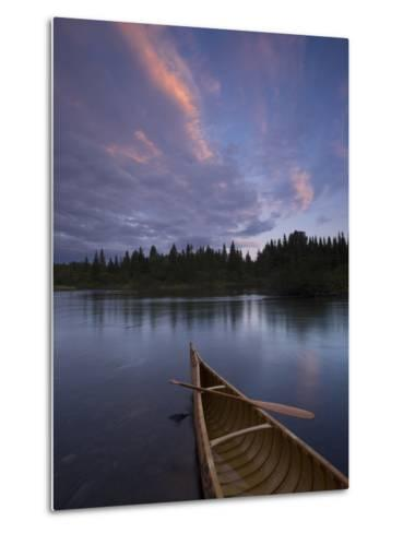 A Canoe on Maine's Allagash River-Michael Melford-Metal Print