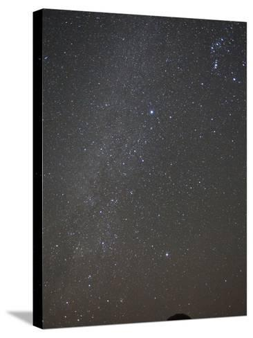 The Milky Way Shines Above a Dragon's Blood Tree-Michael Melford-Stretched Canvas Print