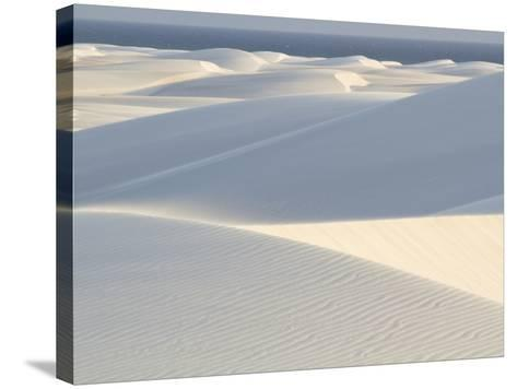 White Sand Dunes Stretch for Miles at Aomak Beach-Michael Melford-Stretched Canvas Print