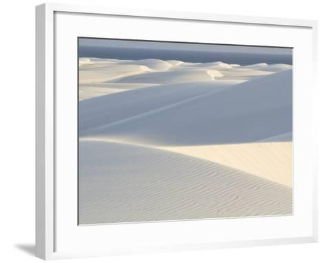 White Sand Dunes Stretch for Miles at Aomak Beach-Michael Melford-Framed Art Print