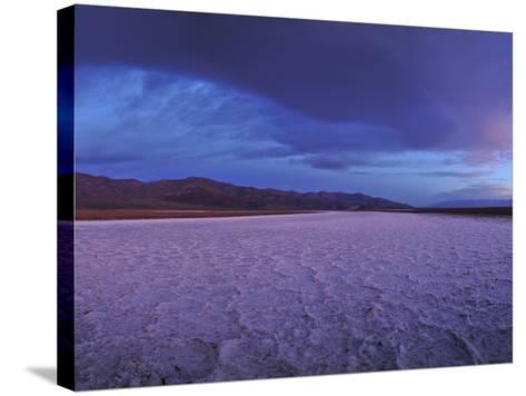 Salt Flats and Polygons on the West Side Road-Raul Touzon-Stretched Canvas Print