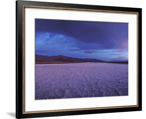 Salt Flats and Polygons on the West Side Road-Raul Touzon-Framed Art Print