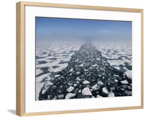Arctic Landscape in the Hinlopen Strait-Keenpress-Framed Art Print