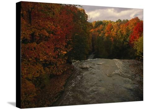Cuyahoga River, as Seen from the Top of Brandywine Falls-Melissa Farlow-Stretched Canvas Print