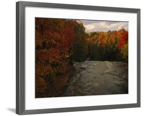 Cuyahoga River, as Seen from the Top of Brandywine Falls-Melissa Farlow-Framed Art Print