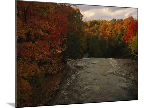 Cuyahoga River, as Seen from the Top of Brandywine Falls-Melissa Farlow-Mounted Photographic Print