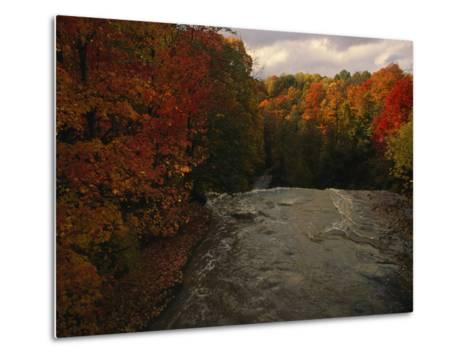 Cuyahoga River, as Seen from the Top of Brandywine Falls-Melissa Farlow-Metal Print