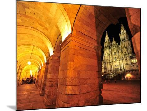 The Pilgrimage Cathedral of Santiago De Compostela-Raul Touzon-Mounted Photographic Print
