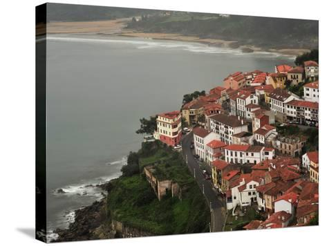 The City of Lastres on the Atlantic Coast-Raul Touzon-Stretched Canvas Print