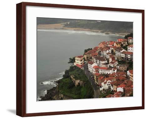 The City of Lastres on the Atlantic Coast-Raul Touzon-Framed Art Print