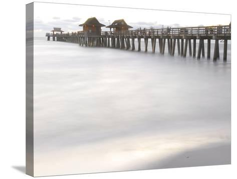 The Fishing Pier at Naples Beach-Raul Touzon-Stretched Canvas Print