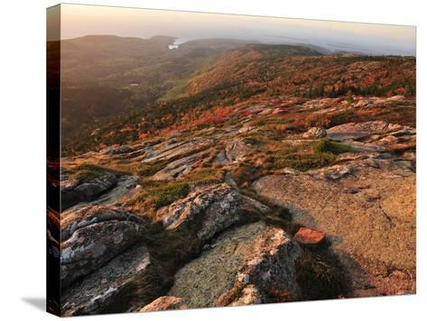 A View from the Top of Cadillac Mountain-Raul Touzon-Stretched Canvas Print