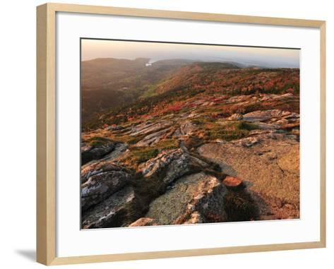 A View from the Top of Cadillac Mountain-Raul Touzon-Framed Art Print