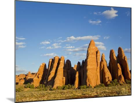 An Interesting Rock Formation in Glowing Warm Sunlight-Mike Theiss-Mounted Photographic Print